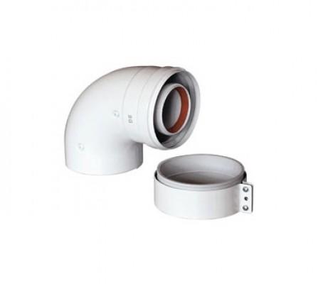 Baxi KHG Отвод DN 60/100, коаксиальный 90 (для котла)