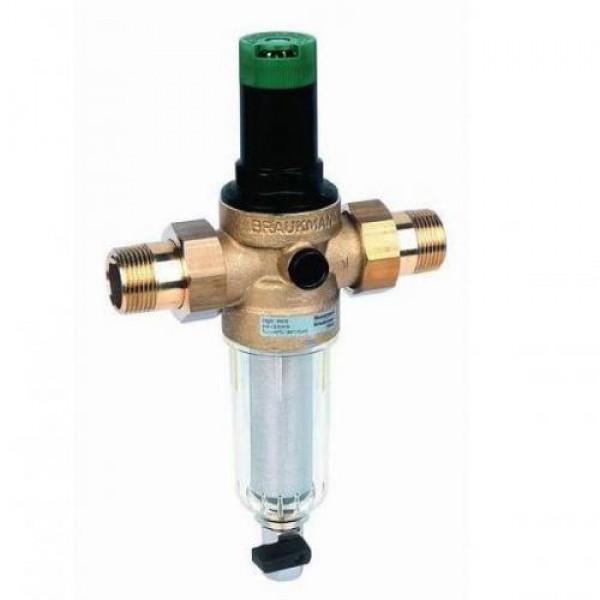 Фильтр промывной с редуктором давления Honeywell для холодной воды FK-06