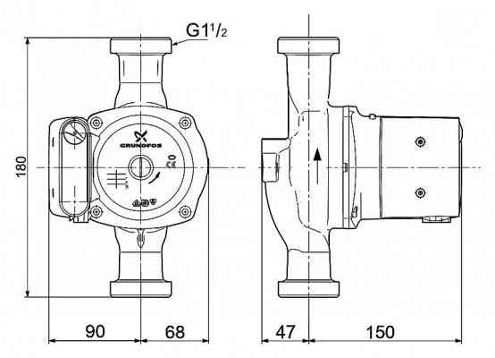 Grundfos UPS 25-100