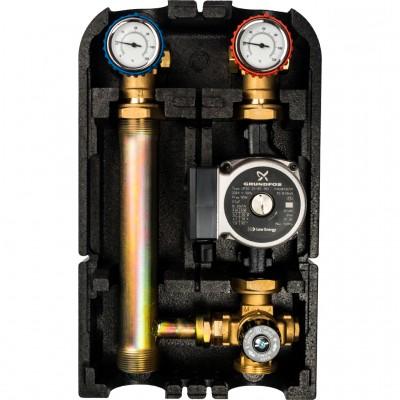 """Насосная группа с термостатическим смесительным клапаном 1""""с насосом Grundfos UPSO 25-65"""