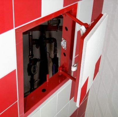 Нажимной люк-невидимка под плитку Практика ЕвроФормат АТР 40x30