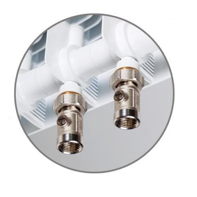 Радиатор биметаллический Rifar Monolit Ventil 350/ 8 секций, НП, правое, MVR