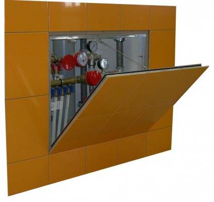 Ревизионный люк-невидимка под плитку Практика Контур 50х50