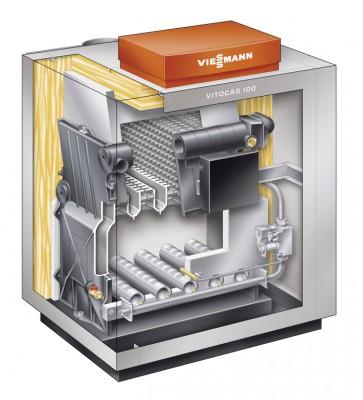 Напольный одноконтурный котел Viessman Vitogas 100-F 35 кВт GS1D876