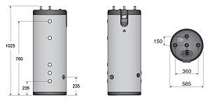 Бойлер косвенного нагрева ACV SMART LINE SLE 130L