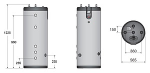 Бойлер косвенного нагрева ACV SMART LINE SLE 160L