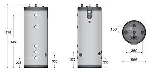 Бойлер косвенного нагрева ACV SMART LINE SLE 240L