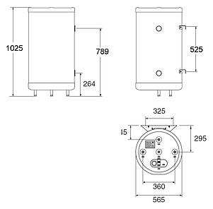 Бойлер косвенного нагрева ACV SMART LINE STD 130L