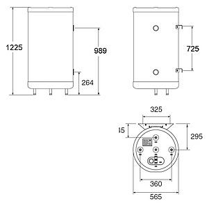 Бойлер косвенного нагрева ACV SMART LINE STD 160L
