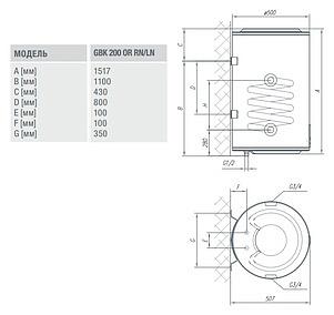 Бойлер косвенного нагрева Gorenje GBK 200 ORRNB6