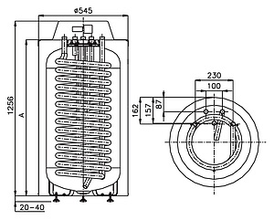 Бойлер косвенного нагрева Hajdu HR-N 40 160 л напольный