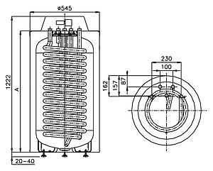 Бойлер косвенного нагрева Hajdu HR-T 40 160 л напольный